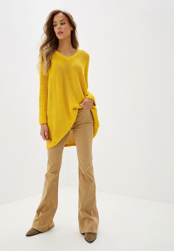 Фото 2 - женский пуловер Noisy May желтого цвета