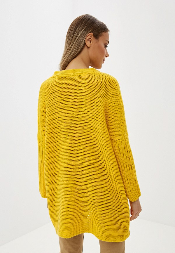 Фото 3 - женский пуловер Noisy May желтого цвета
