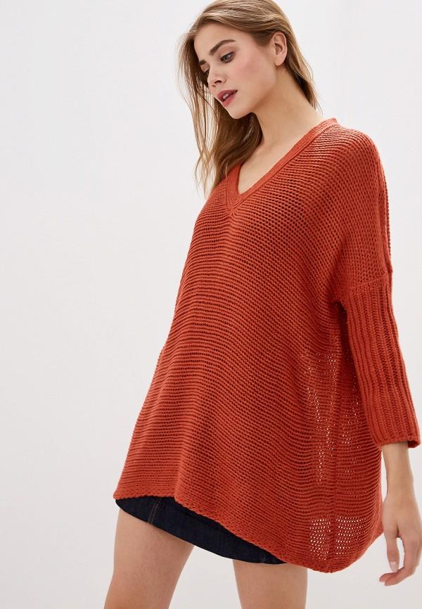 женский пуловер noisy may, красный