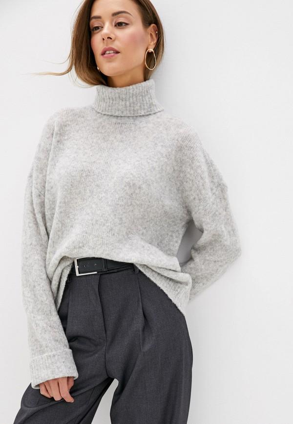 женский свитер noisy may, серый