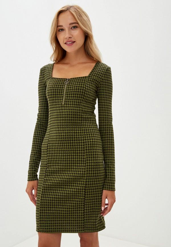 женское платье-футляр noisy may, зеленое