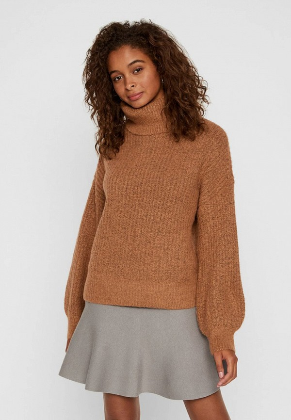 женский свитер noisy may, коричневый
