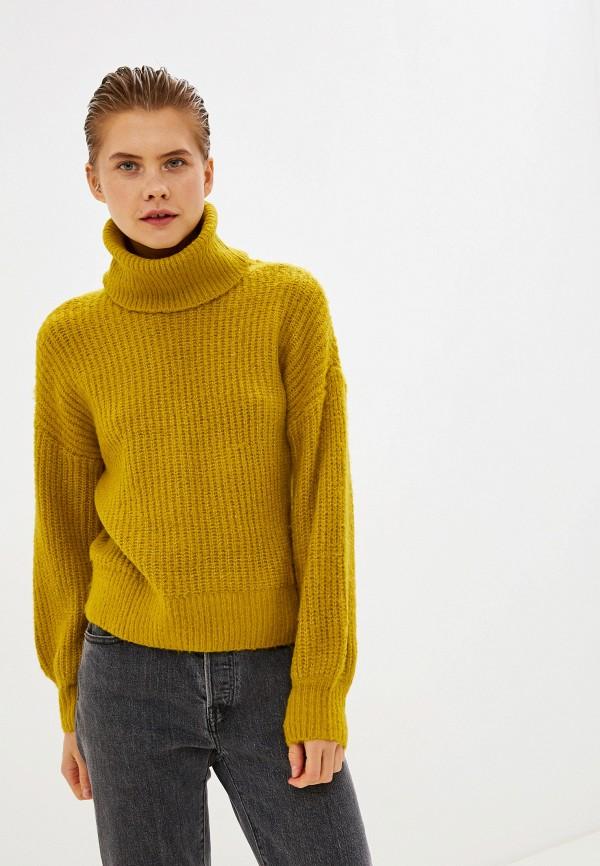 женский свитер noisy may, желтый