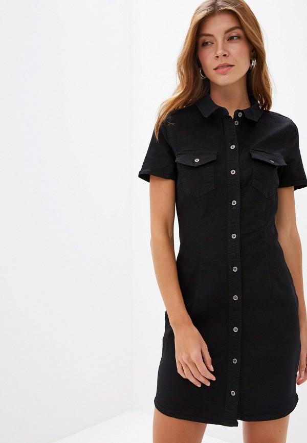 женское джинсовые платье noisy may, черное