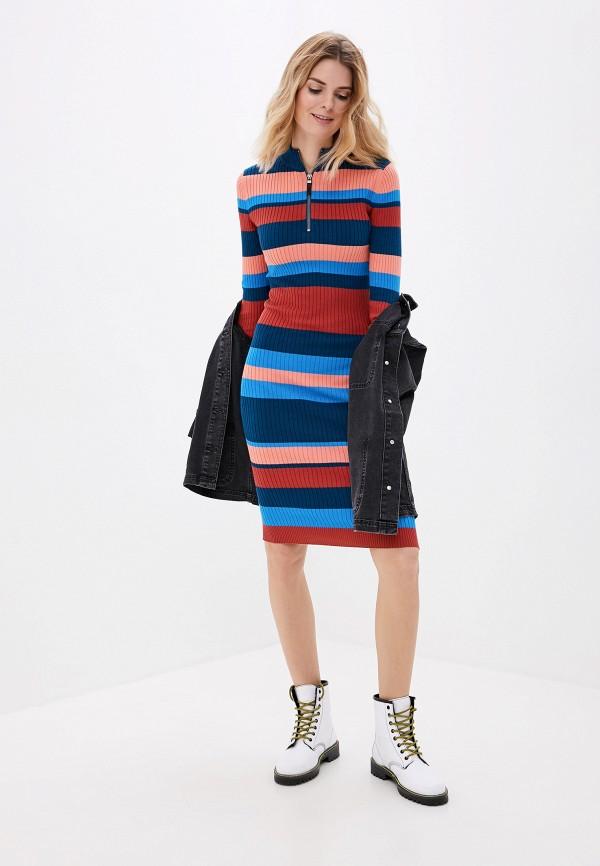 женское платье-футляр noisy may, разноцветное