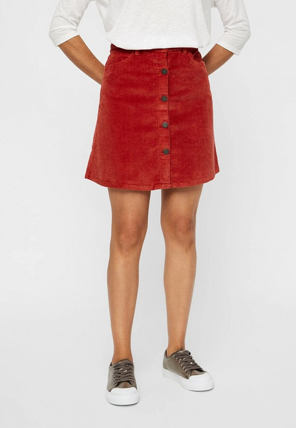 женская юбка noisy may, красная