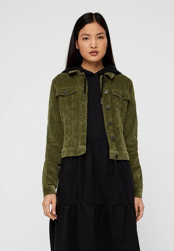 женская куртка noisy may, зеленая