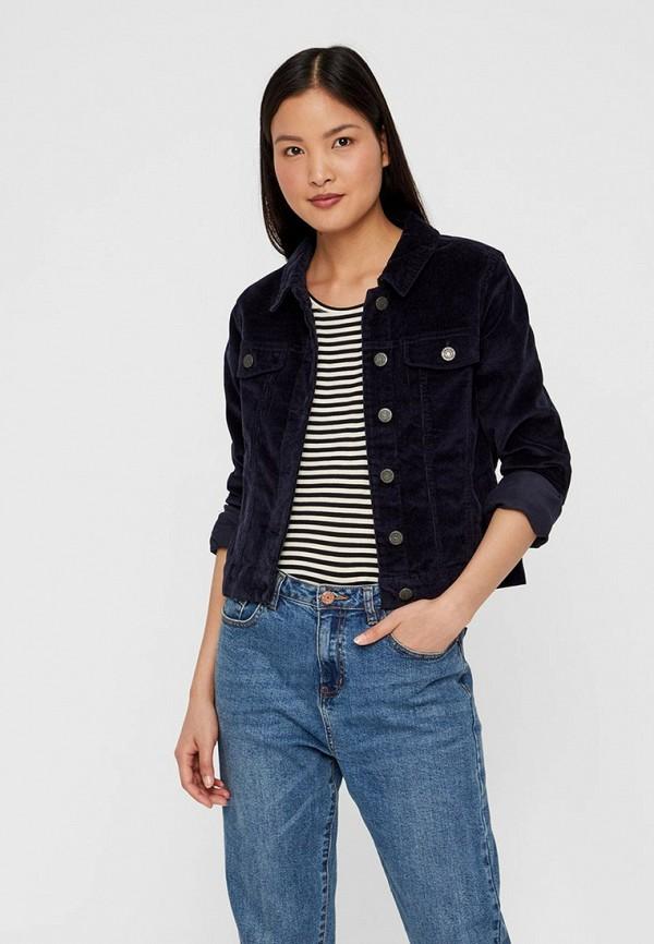 женская джинсовые куртка noisy may, синяя