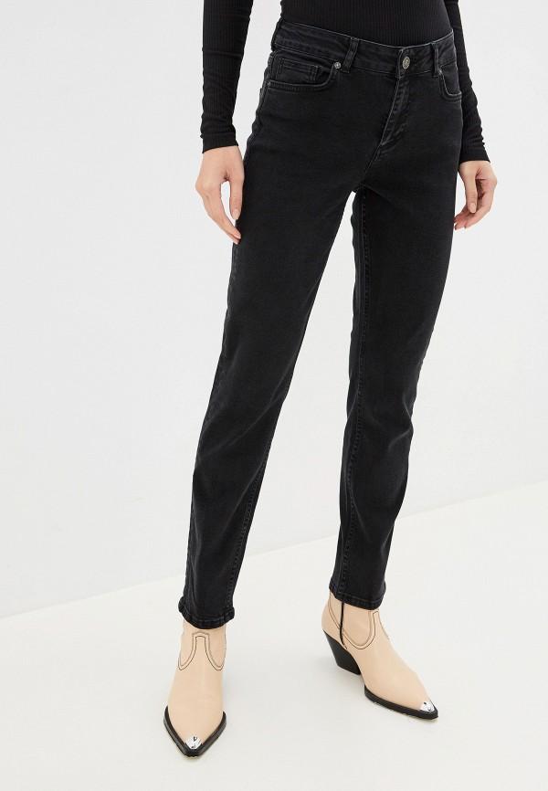 женские джинсы бойфренд noisy may, черные