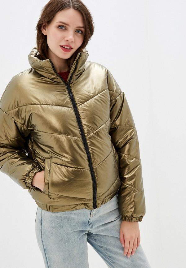 женская куртка noisy may, золотая