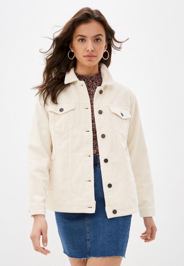 женская куртка noisy may, бежевая