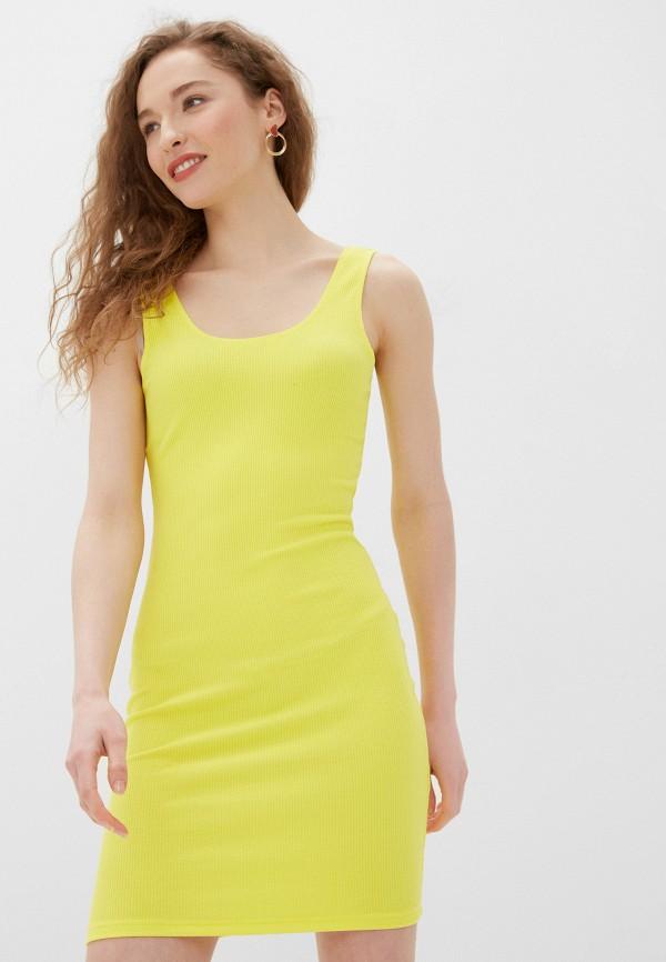 женское платье noisy may, желтое