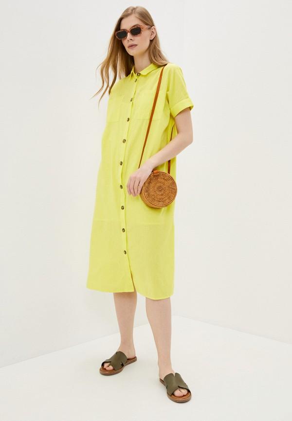 женское повседневные платье noisy may, желтое