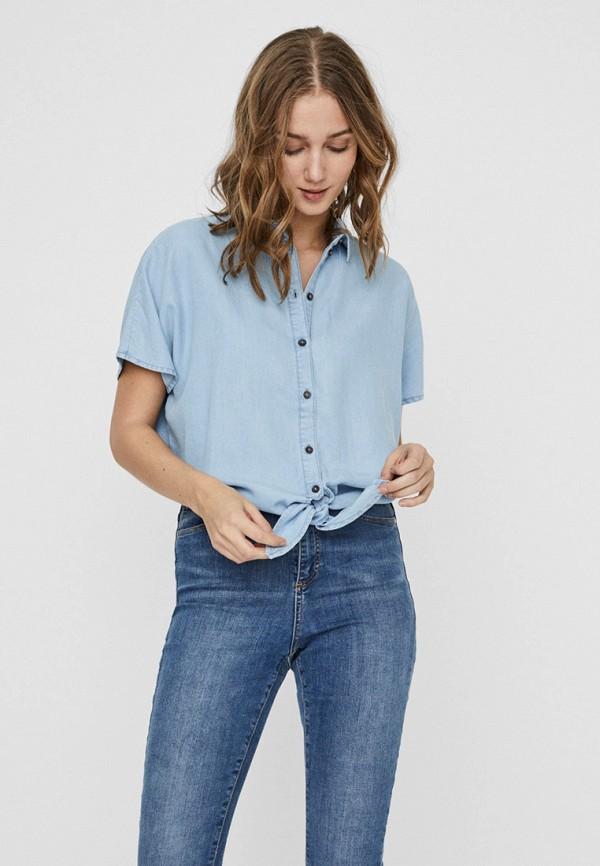 женская блузка noisy may, голубая