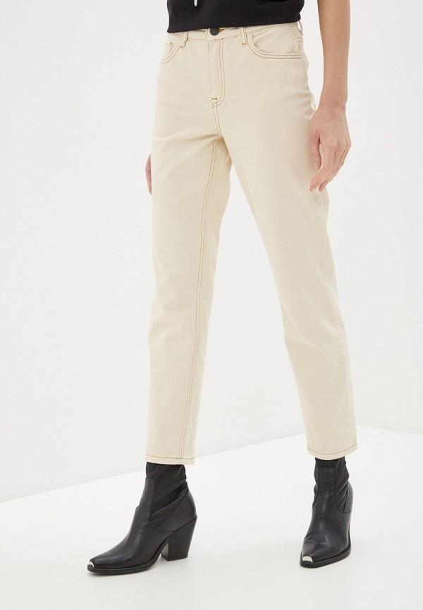 женские прямые джинсы noisy may, бежевые