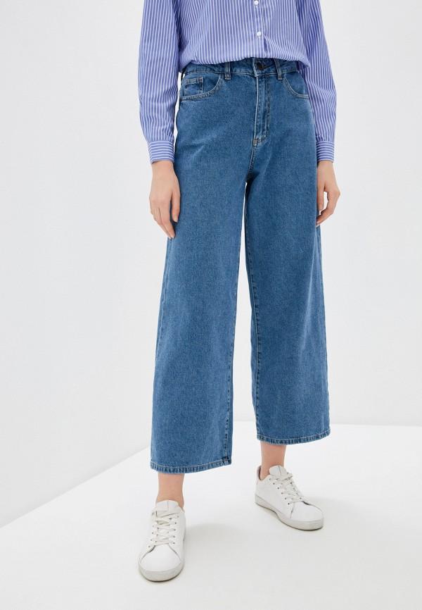 женские джинсы клеш noisy may, синие