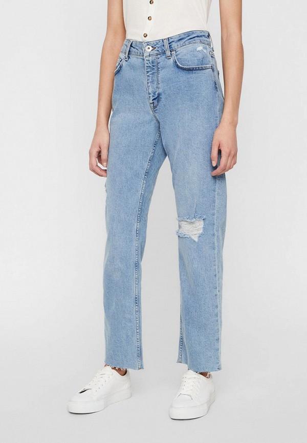 женские джинсы бойфренд noisy may, голубые