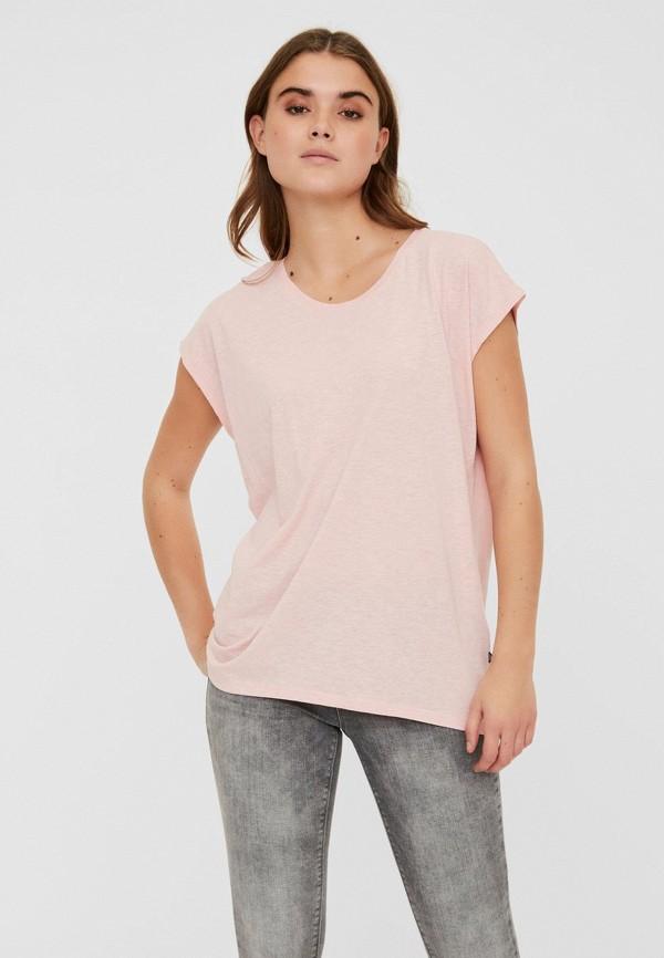 женская футболка noisy may, розовая