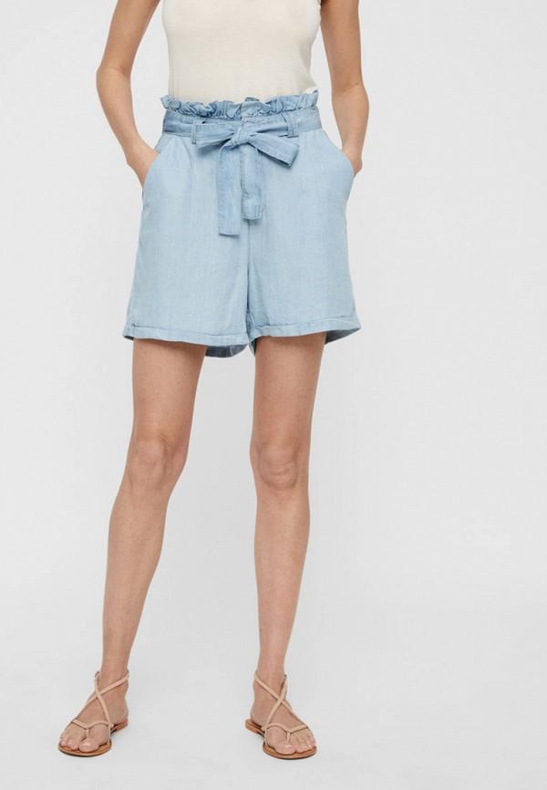 женские повседневные шорты noisy may, голубые