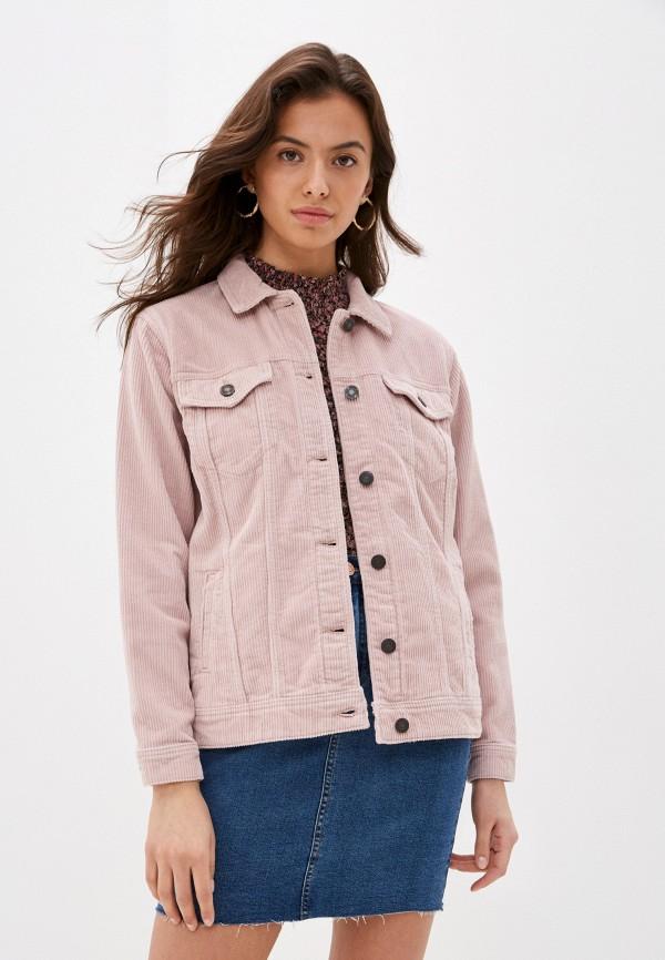 женская куртка noisy may, розовая