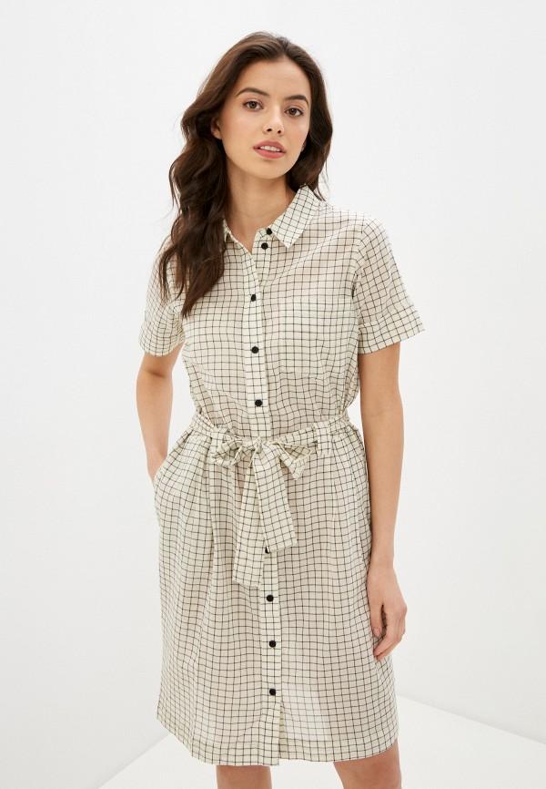 женское платье noisy may, белое