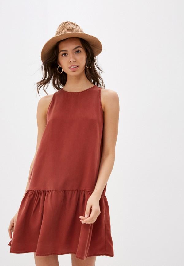женское повседневные платье noisy may, коричневое