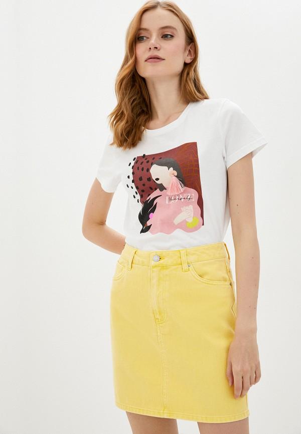 женская футболка noisy may, белая
