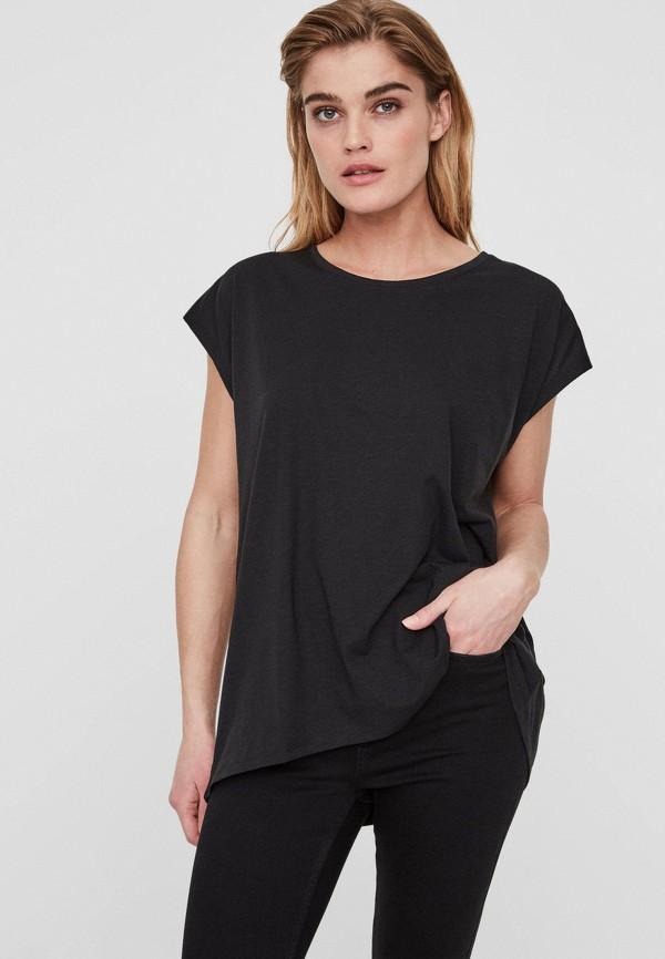 женская футболка noisy may, черная