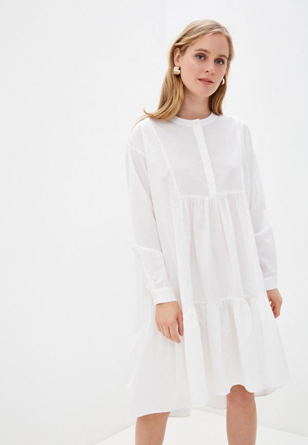 женское повседневные платье noisy may, белое