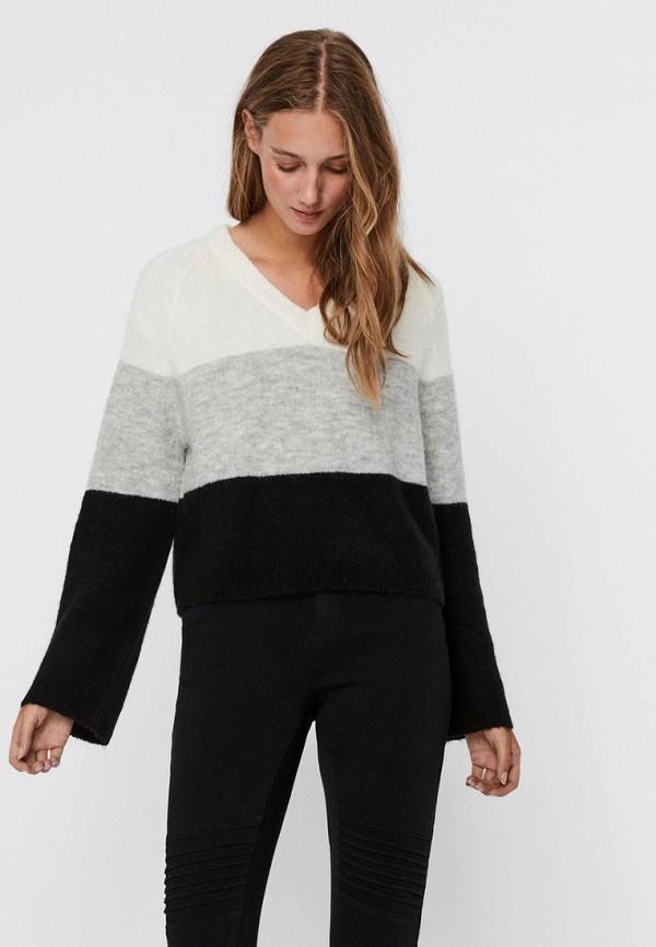 женский пуловер noisy may, разноцветный