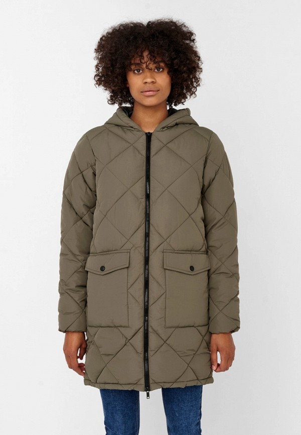 женская куртка noisy may, хаки