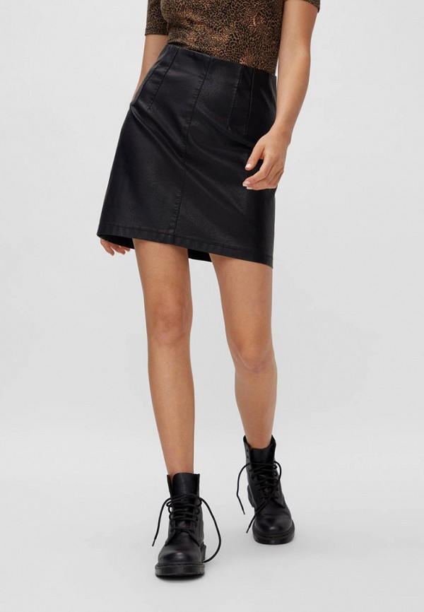женская юбка noisy may, черная