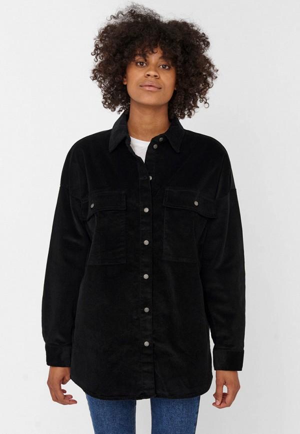 женская рубашка с длинным рукавом noisy may, черная