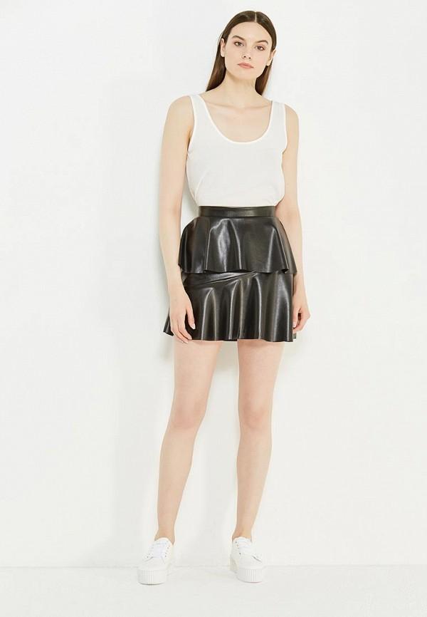 Фото 2 - женскую юбку Noisy May черного цвета