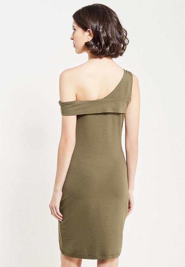 Фото 3 - женское платье Noisy May цвета хаки