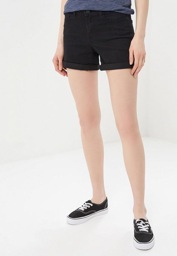 женские джинсовые шорты noisy may, черные