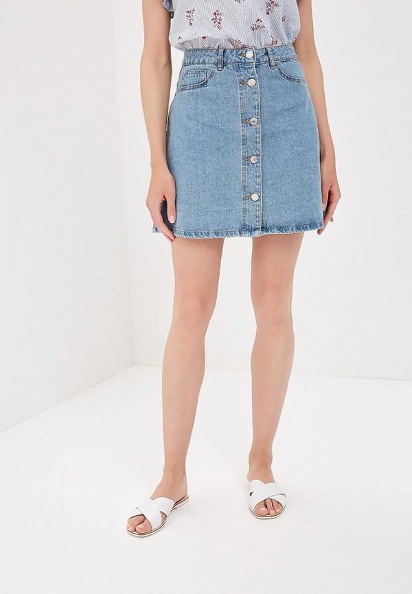 женская джинсовые юбка noisy may, голубая
