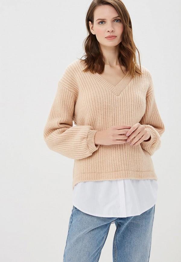 женский пуловер numinou, бежевый