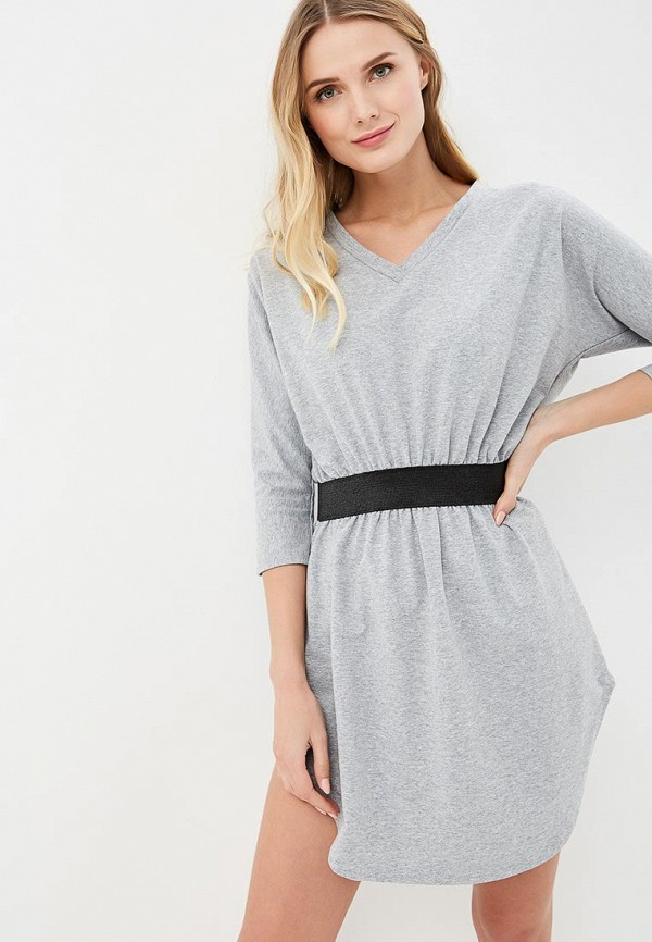 женское повседневные платье numinou, серое
