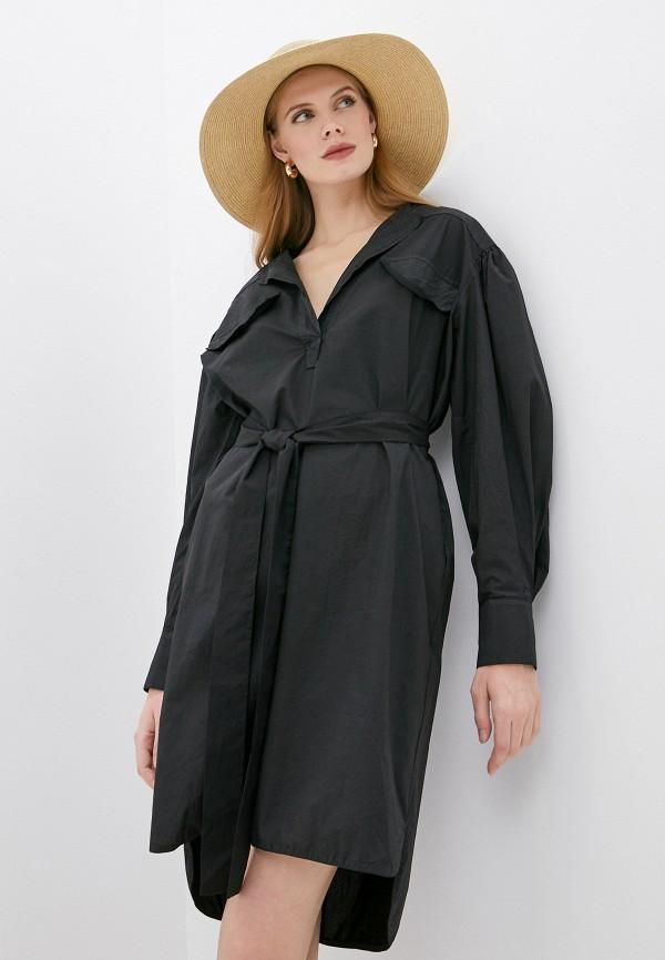 женское повседневные платье nude, черное