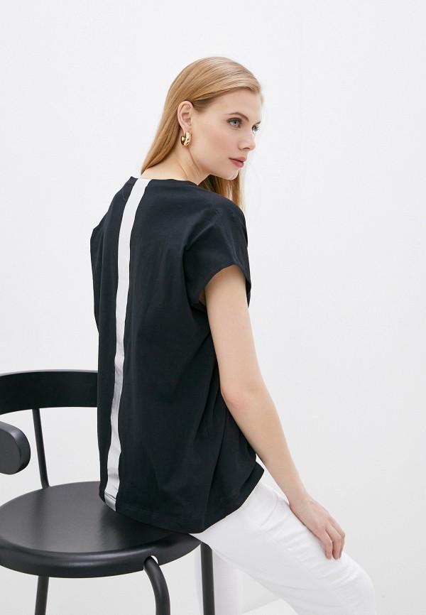 женская футболка nude, черная