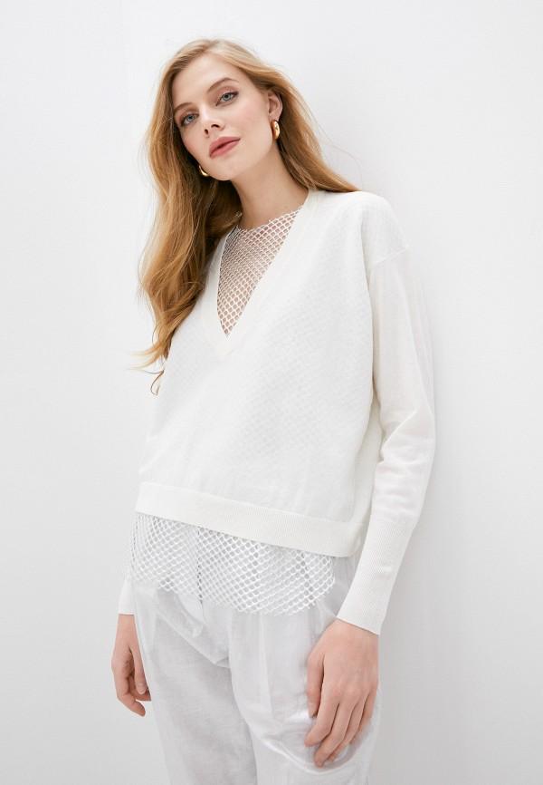 женский пуловер nude, белый
