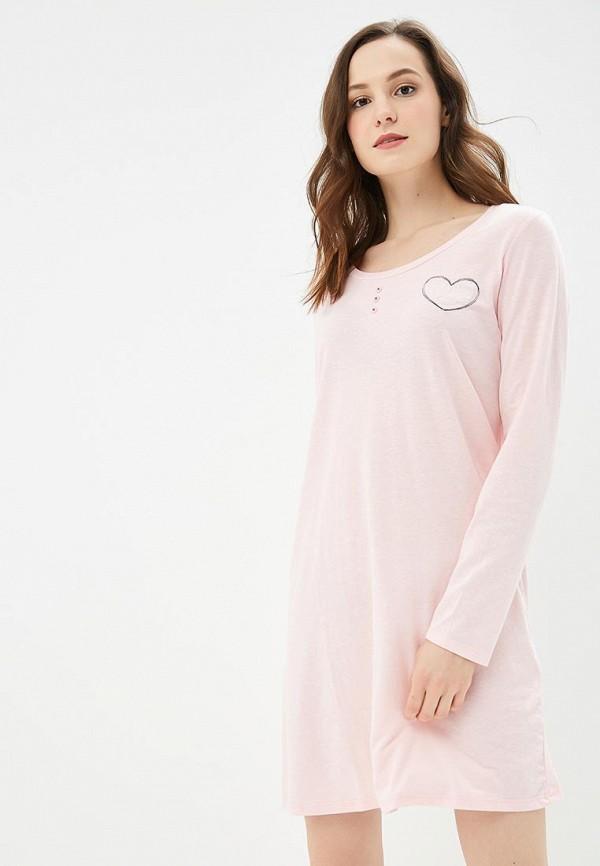 Купить Сорочка ночная NYMOS, NY002EWCGUJ4, розовый, Осень-зима 2018/2019