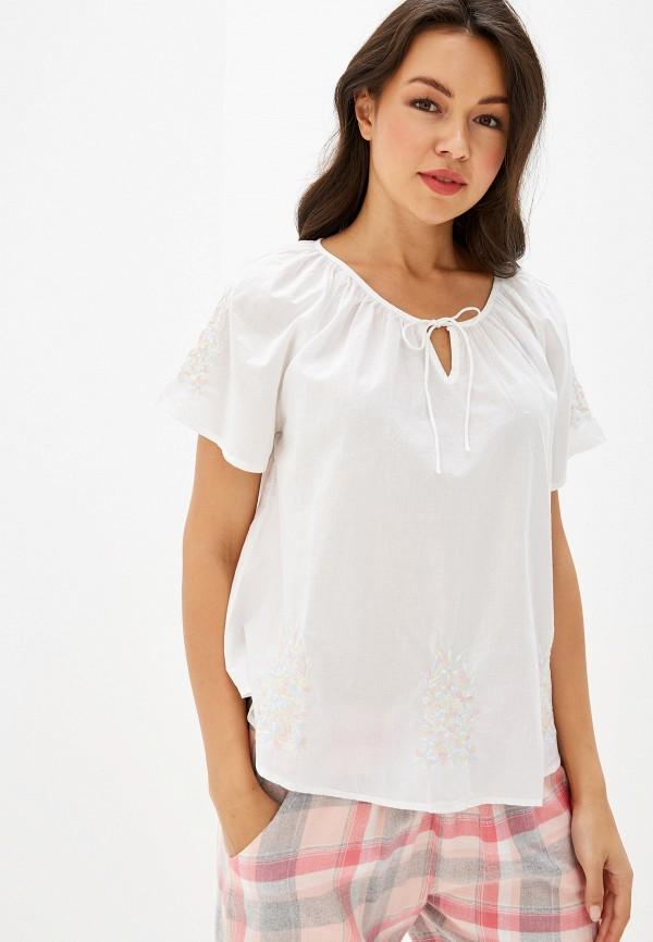 женская футболка nymos, белая