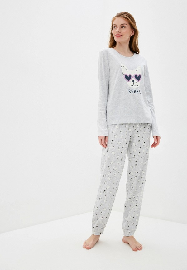 женская пижама nymos, серая