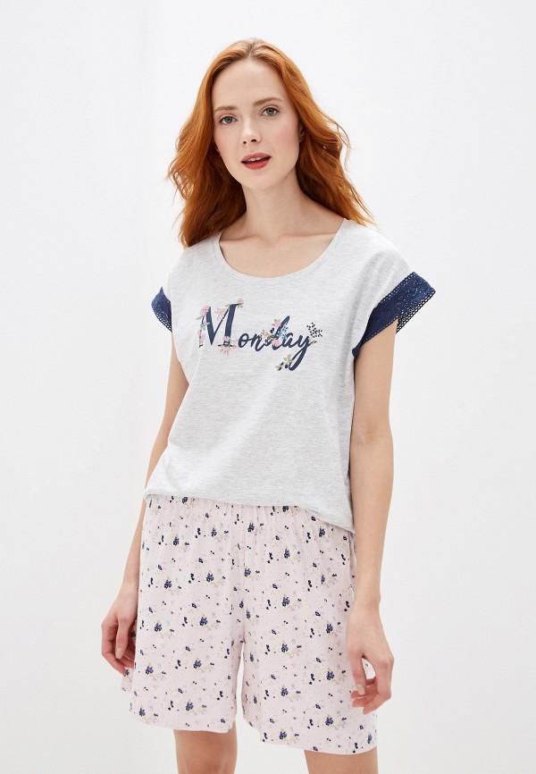 женская футболка nymos, серая