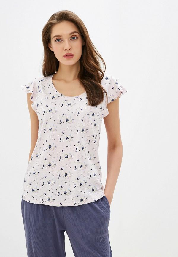женская футболка nymos, розовая
