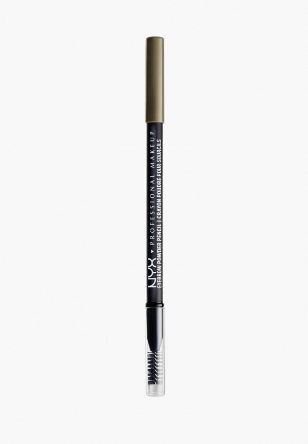 женский карандаш для бровей nyx professional makeup, хаки