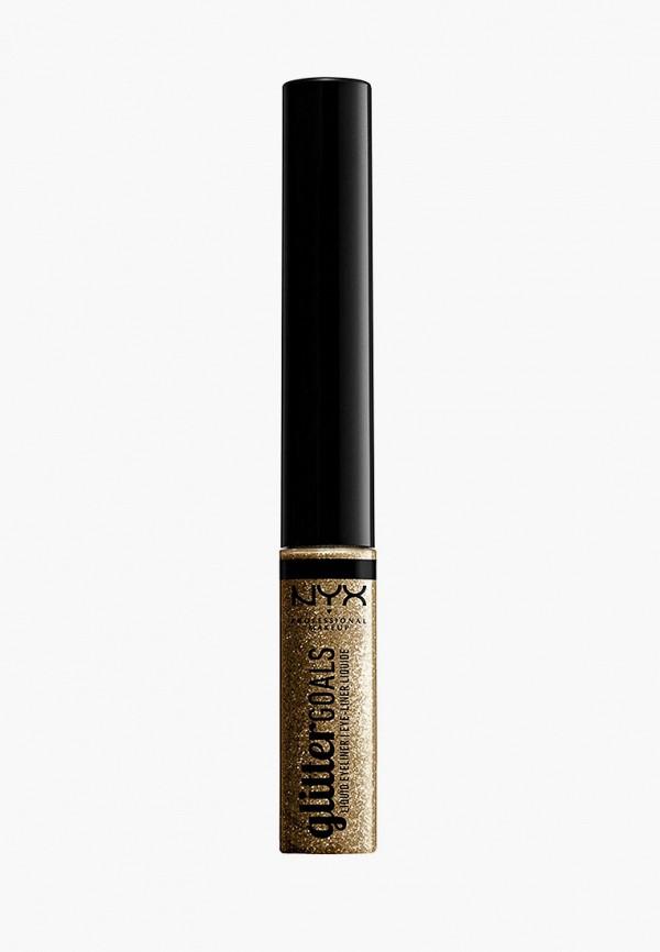 женский подводка для глаз nyx professional makeup, золотой
