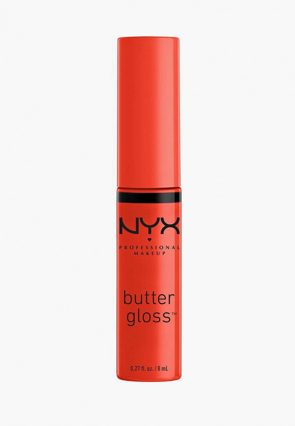женский блеск для губ nyx professional makeup, оранжевый